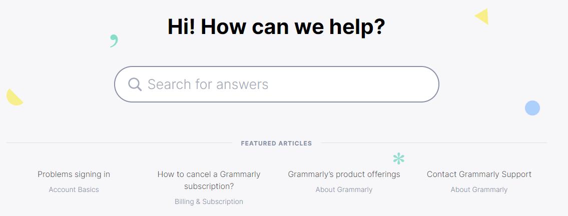 knowledge base grammarly