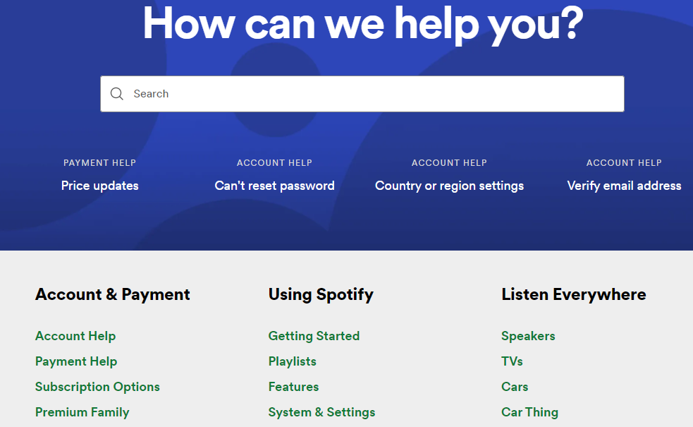 knowledge base examples spotify