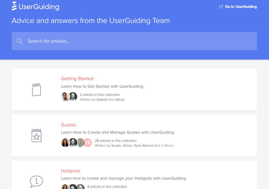 knowledge base userguiding