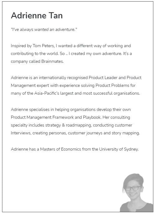 product leadership adrienne tan