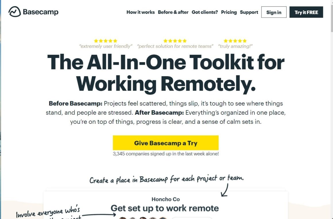 project management tools basecamp