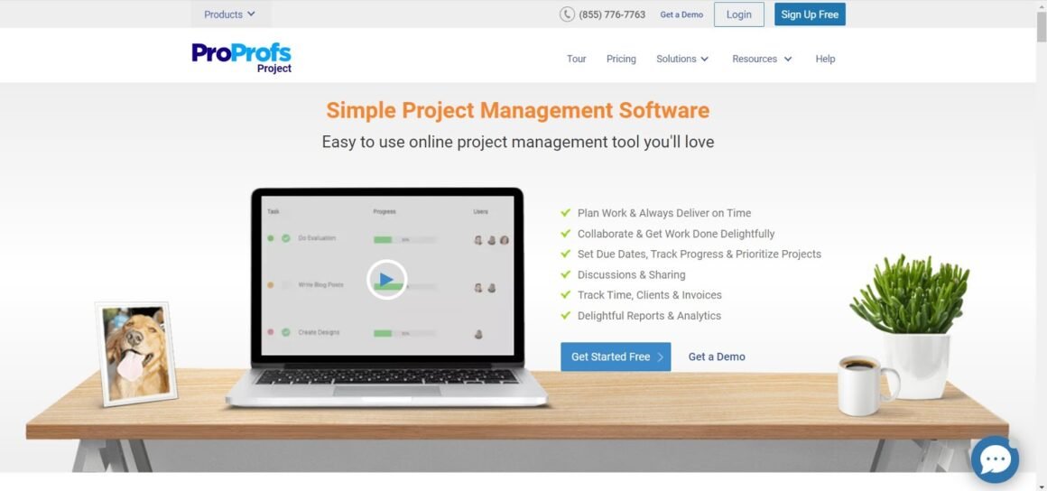 project management tools proprofs