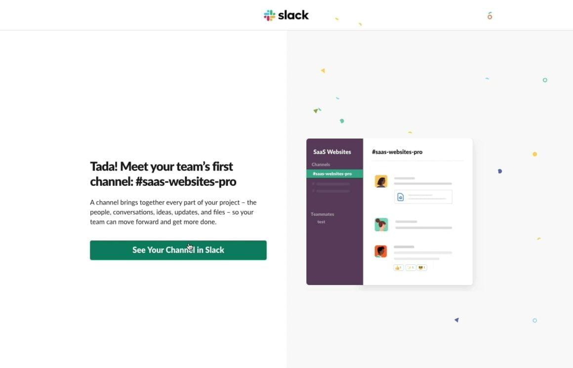 slack in-app messaging
