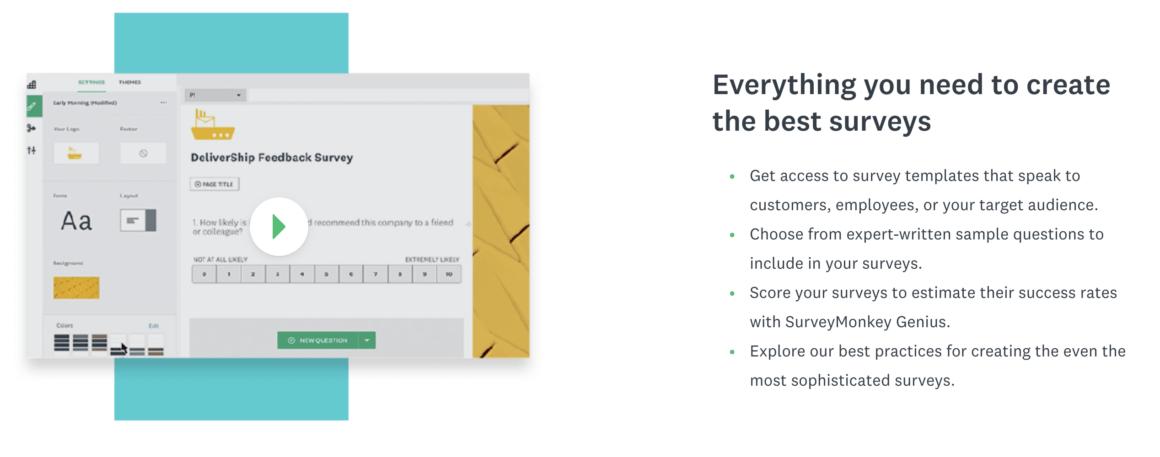 surveymonkey customer feedback tool example