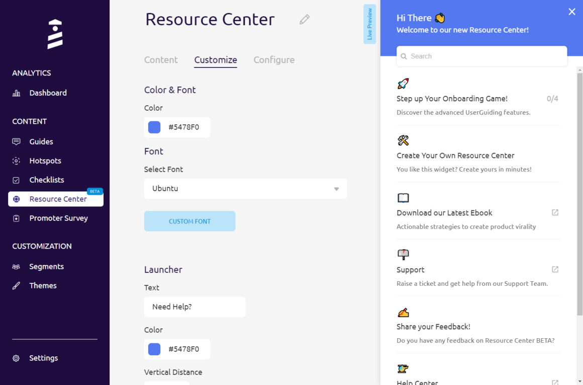 interactive user manual resource centers