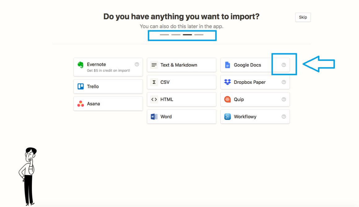 onboarding ux notion sign up