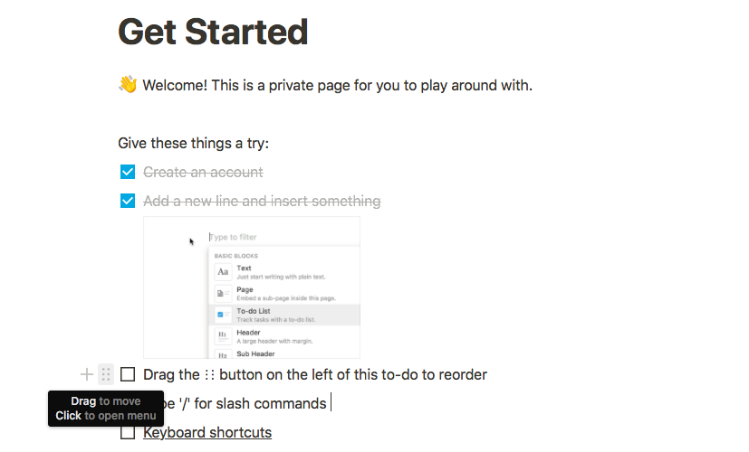 onboarding ux notion private page