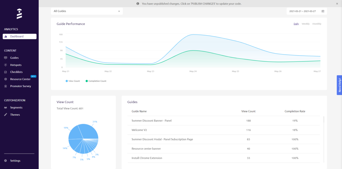 guided tour software analytics
