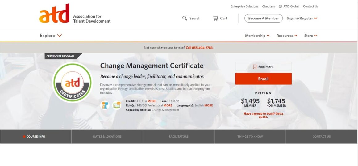 ATD Certification in Change Management