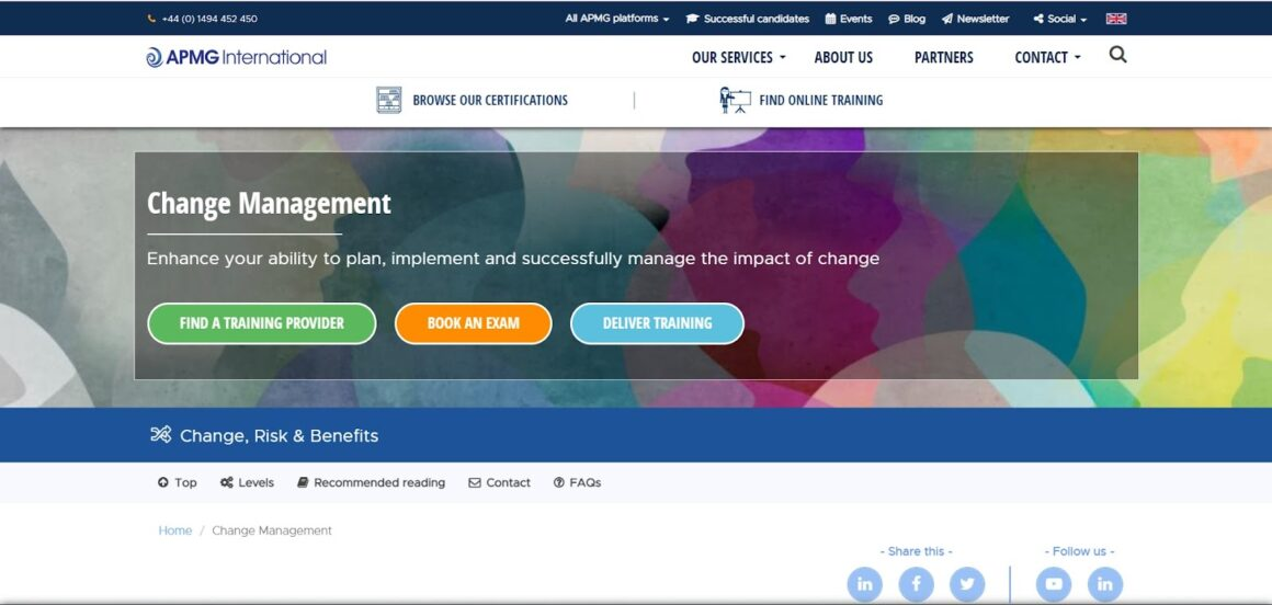 Change Management Foundation Certificate