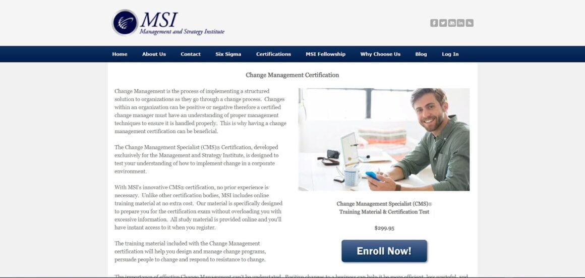 Change Management Specialist Certification