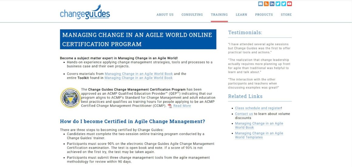 Managing Change in an Agile World