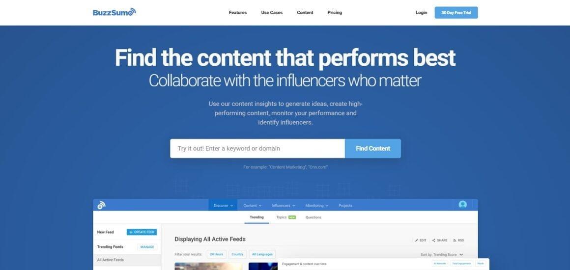 marketing analytics tools buzzsumo