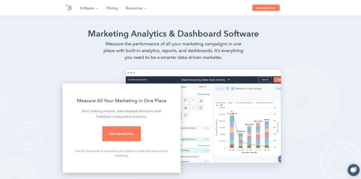 marketing analytics tools hubspot