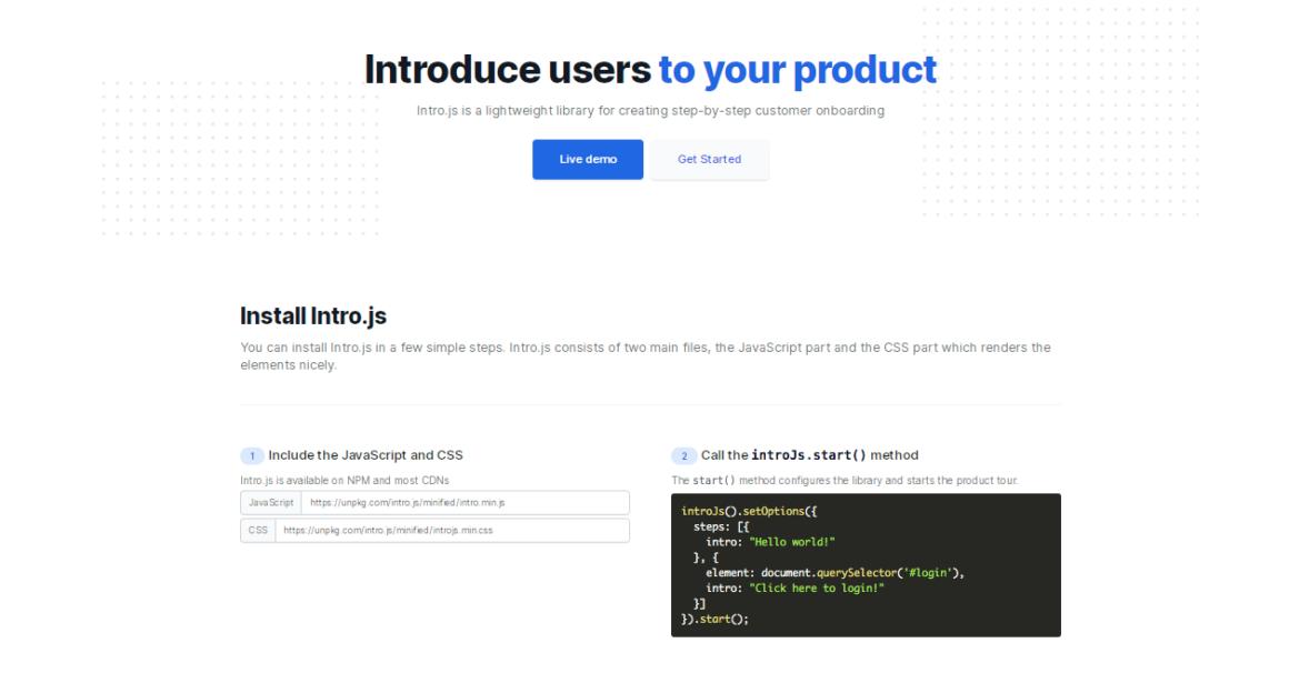Intro.js website