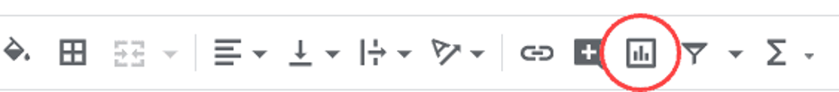 Toolbar in Google Sheets