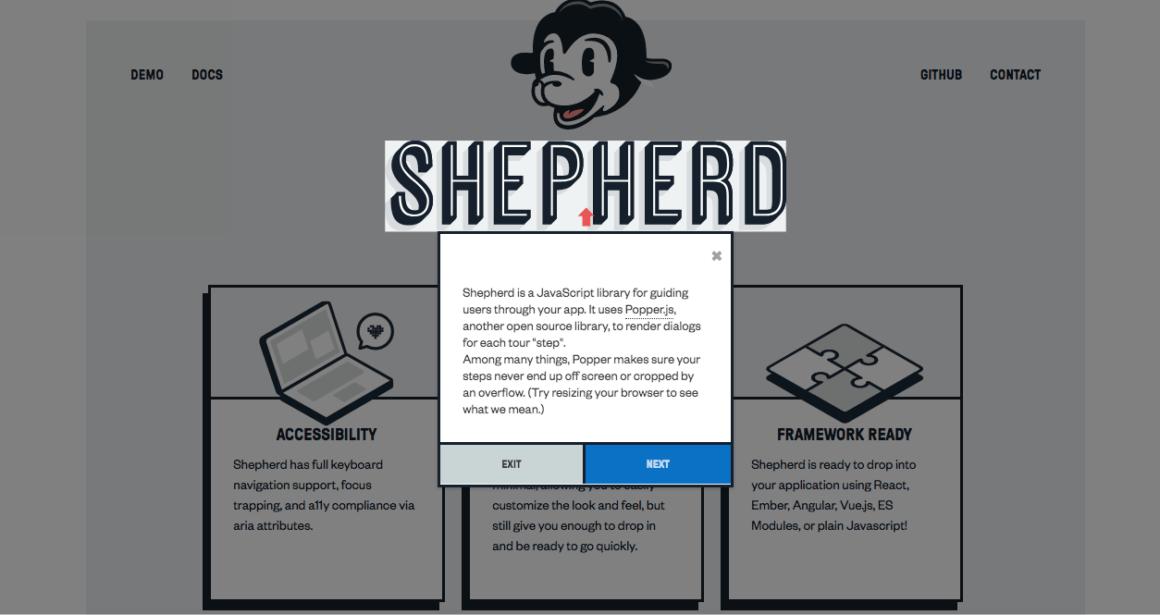 Shepherd.js website