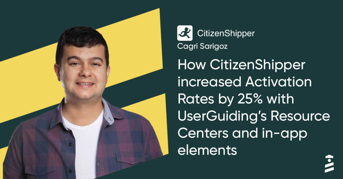 how Citizenshipper increased their free trial conversion rates with UserGuiding