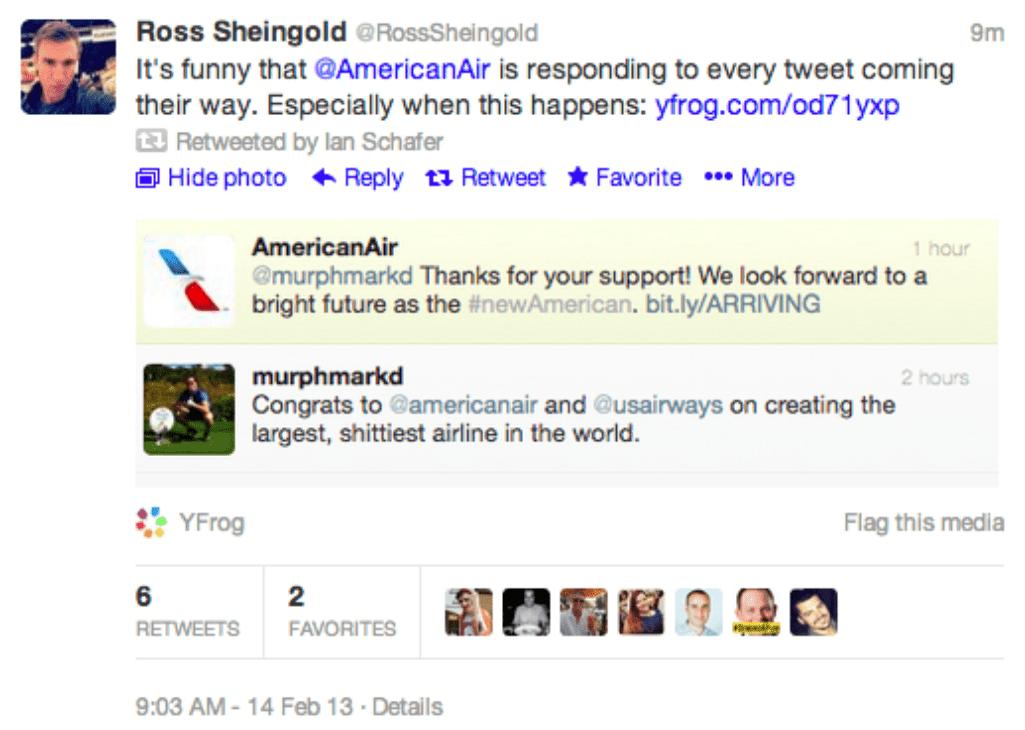 customer service mistakes twitter americanair