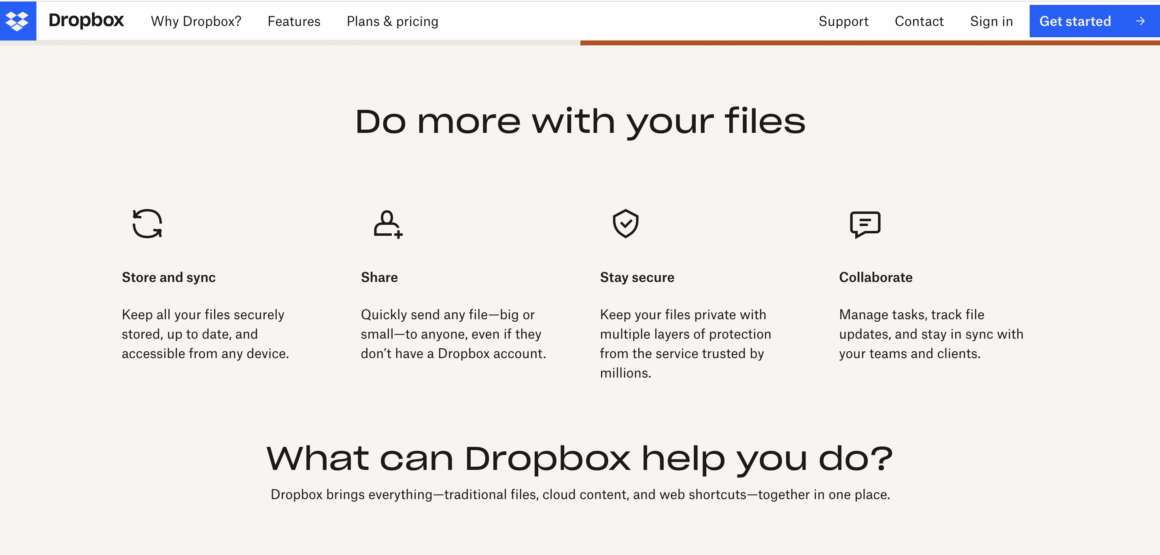 Dropbox product-led company