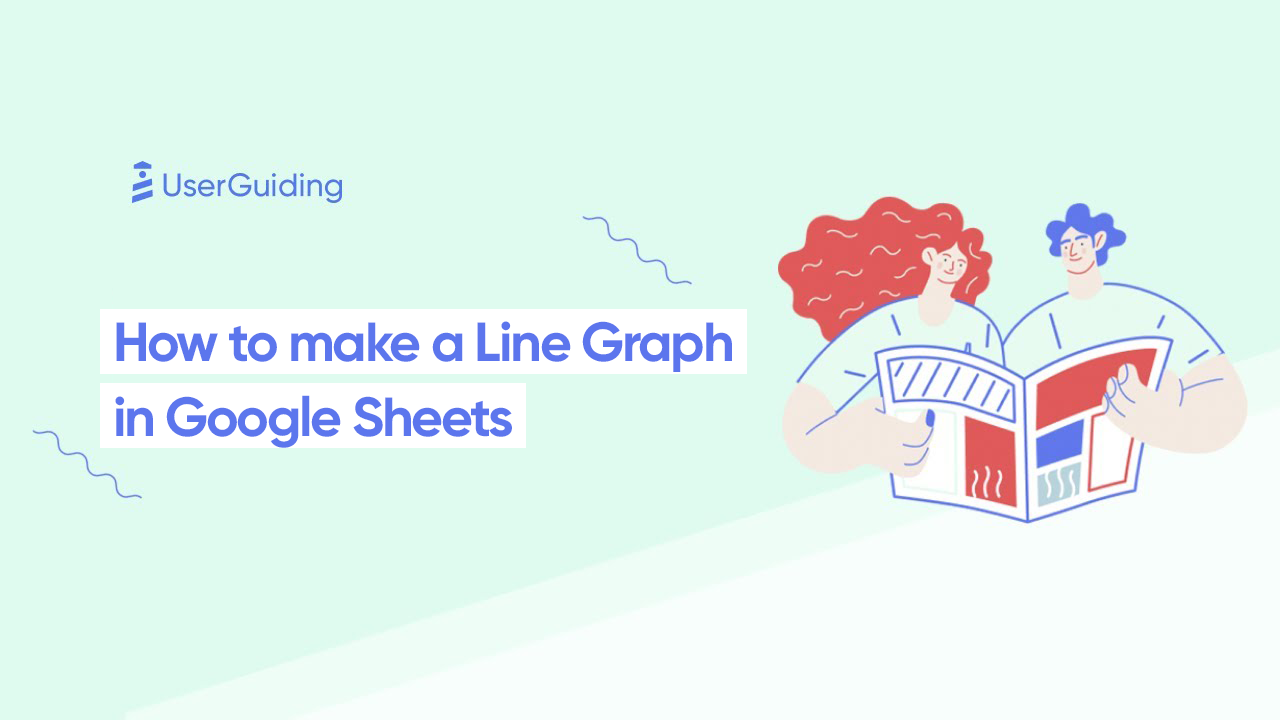how to create a line graph sheets